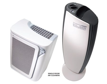 Single room air cleaners