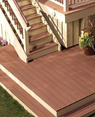 Low-maintenance decking