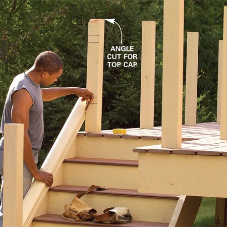 <b>Photo 18: Cut the rails</b></br> Cut the posts to their final length. Scribe and cut the rails to length. Number the pairs and their matching location so you don't get them mixed up.