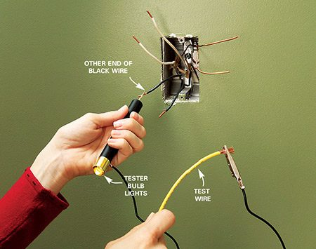 <b>Use a test wire</b></br> Clip the lead to the test wire.