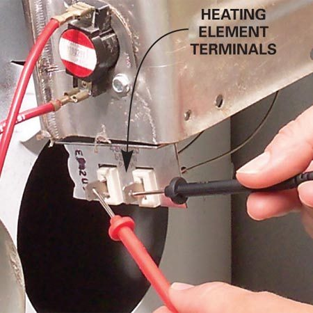 <b>Photo 1A: Close-up of Photo 1</b></br> 1A Heating element terminals