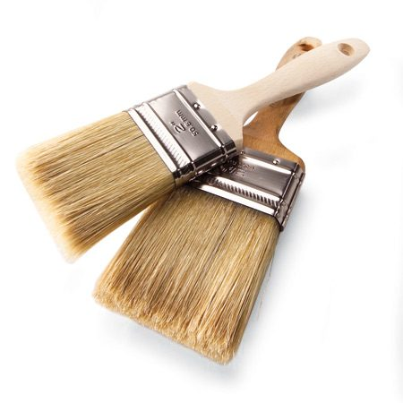 For the best results, use natural bristle brushes.