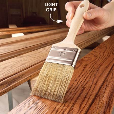Finishing Wood Trim With Stain And Varnish The Family