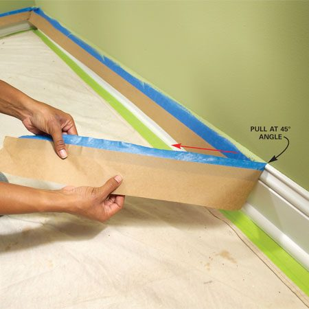 <b>Carefully pull the tape</b></br> Pull tape diagonally rather than straight up.
