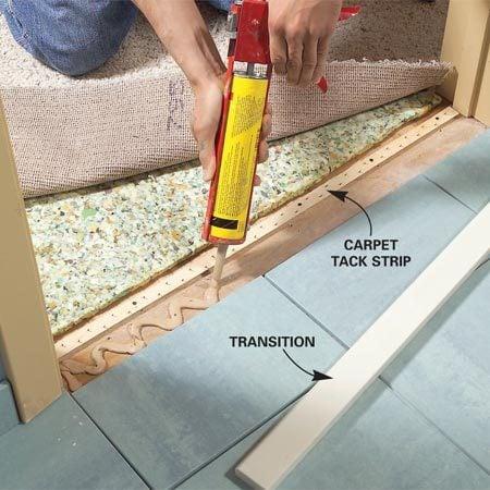 Transition Tile To Carpet On Concrete Floor Nrtradiant