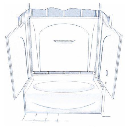 3 Piece Bathtub Shower Bathroom Design 276032AR Delta Styla 60x32 ...