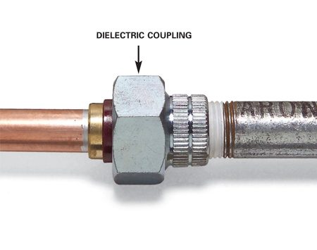 Use a special coupling to fit old pipe to new