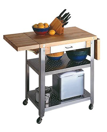 <b>Kitchen cart</b></br> Kitchen carts expand your work area without taking up much floor space.
