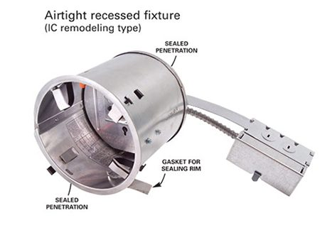 Airtight recessed fixture, remodeling type