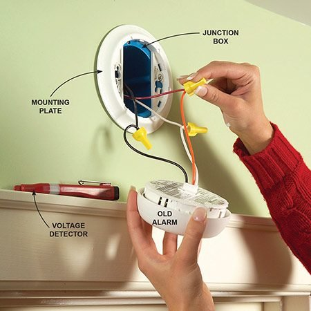 Install New Hard Wired Or Battery Powered Smoke Alarms