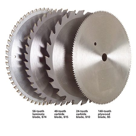 <b>Suitable plywood blades</b></br> <p>Generally, the more teeth a blade has, the smoother the cut. That assumes that the blade is sharp.</p>