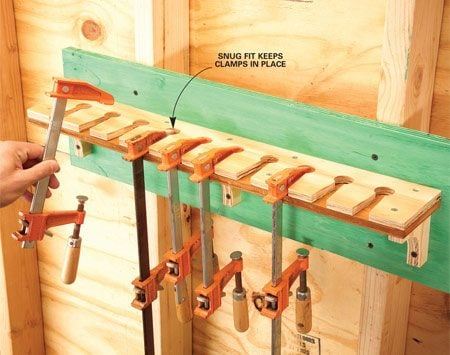 <b>No need to tighten the lower jaw</b></br> You'll love this bar clamp rack because you can holster pony clamps securely without tightening the lower jaw against the rack. Just drop in the clamp and pull it out when needed.