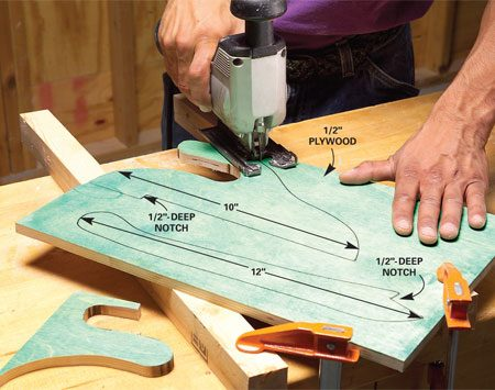 <b>Make your own push sticks</b></br> Use a jig saw to cut your own custom made push sticks.
