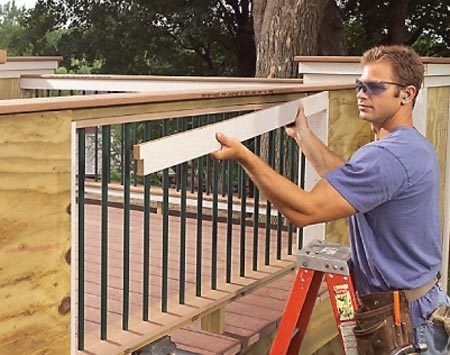 <b>Engineered wood trim</b></br> Engineered wood composites cut and nail easily and stand up to the weather.