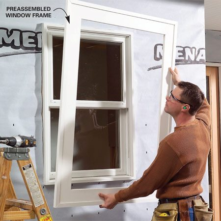 <b>Preassemble trim</b><br/>For tight joints that will never open, join trim pieces together on the ground and then install them as a unit.