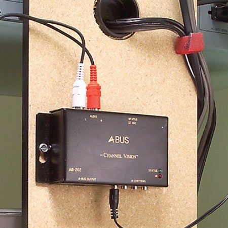 <b>Close-up of distribution module </b></br> The module sends the signals to the distribution hub.