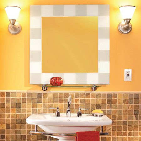 <b>Mirror and sconce lights</b></br> A little planning will help give you great results