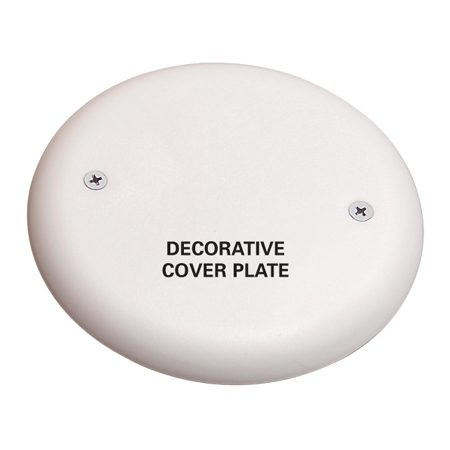 Fasten the flush cover plate to cover the junction box.<br/> The plate will be hidden behind the mirror.