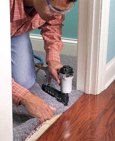 Wood-to-carpet transition