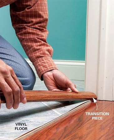 Vinyl-to-wood transition
