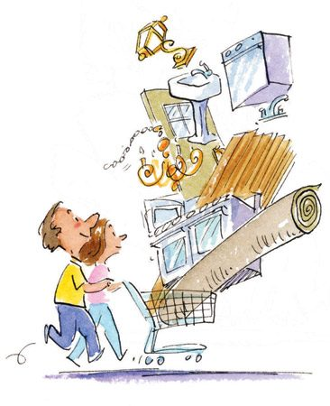 <b>Shop smart</b></br> Shop for finish materials and appliances to take advantage of sales.