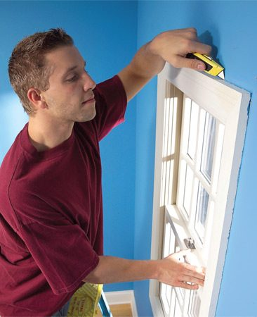 <b>Photo 1: Slice through paint with sharp blade</b></br> Slice through paint where the trim meets the wall and jamb. Put a new blade in your utility knife and make several passes over heavy paint buildup.