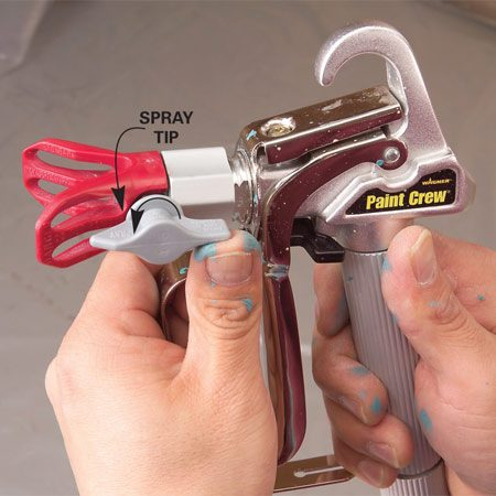 <b>Photo 4A: Align and tighten the tip</b></br> Rotate the tip to face the arrow forward. Snug the guard assembly hand-tight.