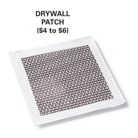 <b>Photo 1A: Drywall patching material close-up</b></br> Buy metal patching material from home centers and hardware stores.