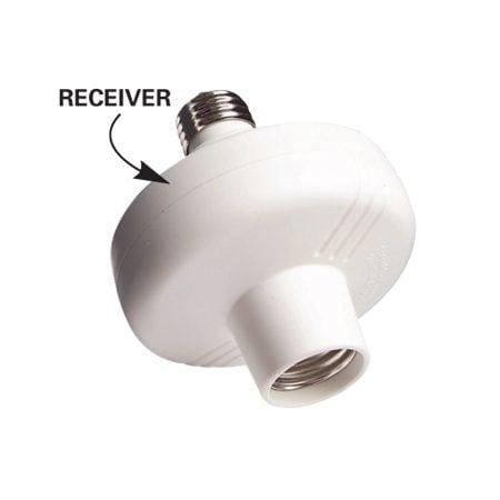 This receiver simply screws into a light socket.