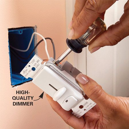 <b>Replace the dimmer</b></br> High-quality dimmer switches are less likely to cause humming.