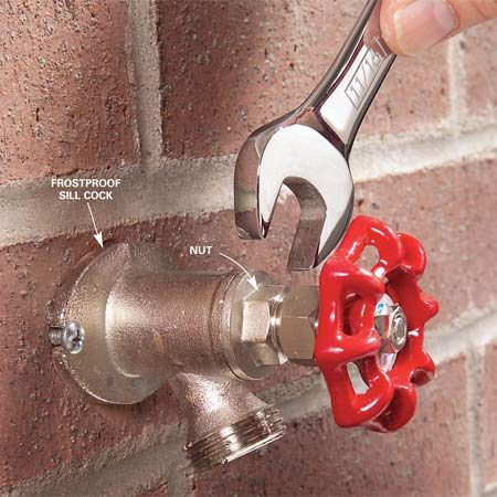 <b>Photo 1: Disassemble</b></br> Disassemble the faucet by turning off the retaining nut.