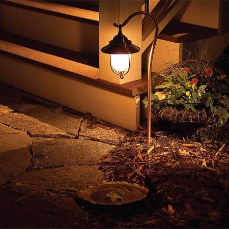 <b>E: Pathway lights</b></br> Pathway lights are designed to illuminate paths and low-lying plants.