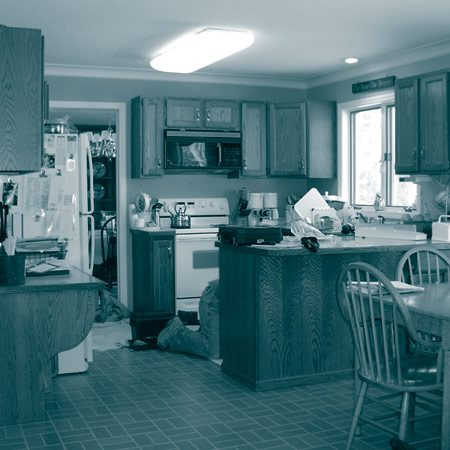 <b>Before: The kitchen as it was.</b></br>