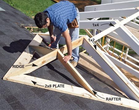 Screen porch construction the family handyman for Ways to cut cost when building a house