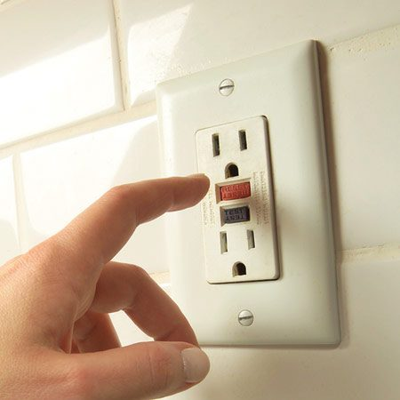 <b>Hit the reset button</b></br> If the circuit breaker hasn't tripped, look for a GFCI.