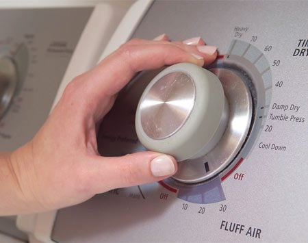 <b>Wrong setting?</b></br> Before calling the repairman, check the dryer settings—just in case.