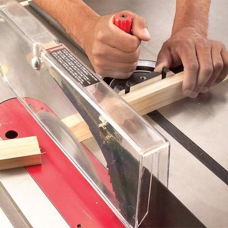 How To Use A Table Saw Cross Cutting The Family Handyman