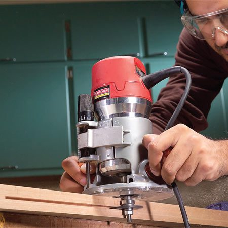 <b>Cutting biscuit slots</b></br> Cut slots for biscuits with a slot cutter mounted on an arbor that's equipped with a bearing. Cut a continuous slot on boards thicker than 3/4 in.