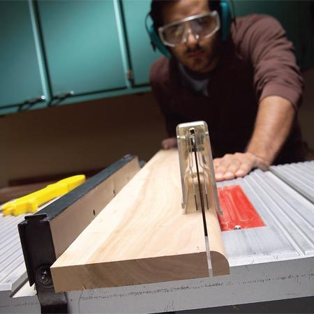 <b>Make your own trim</b></br> Duplicate thin trim by first routing the profile on a wide board. Then sand the profile smooth and cut off the finished piece with a table saw.
