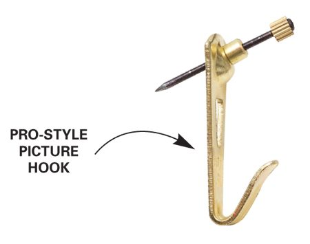 <b>Picture hook</b></br> Use heavy-duty picture hooks