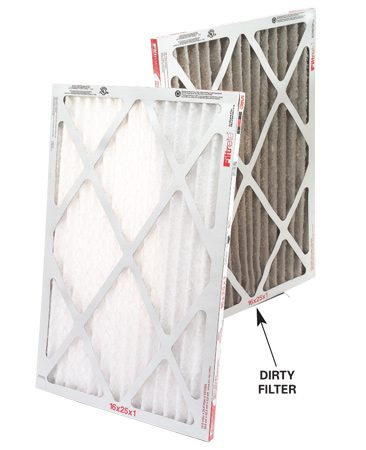 <b>Check the furnace filter and air vents</b></br> One of the most common causes of insufficient heat or cooled air is a plugged furnace filter. Change inexpensive woven fiberglass filters once a month or buy a better-quality pleated filter and change it every three months to avoid heating and cooling problems. Another common cause of cold rooms during heating season is a blocked cold air return. Be sure your couch or an area rug isn't covering a cold air return vent because this can slow the entry of heated air into the room.
