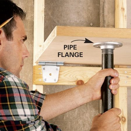 Fold Down Garage Workbench Plans Wood Wheelbarrow Peel