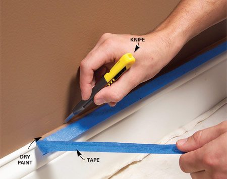 <b>Cut tape when paint is dry</b></br>