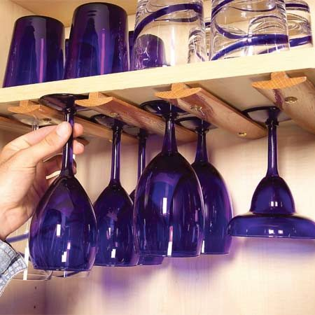 <b>Use T-molding to hold stemware</b></br>