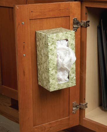 <b>Tissue box keeps plastic bags organized</b></br>