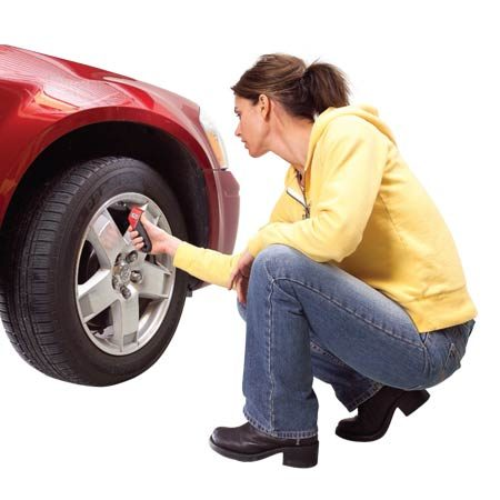 <b>Keep tires at the right pressure</b></br> <p>Surveys show that 60 percent of the  vehicles on the road have tires that are underinflated by at least 30 percent.  That's at least 9 psi below the manufacturer's recommended pressure. That can  cost you almost 7 percent in wasted fuel ($245 per year, or 24¢ per gallon).  Plus, low air pressure causes premature tire wear, and that can cost almost  $300 over the life of the tires. For best results, check your tire's air  pressure with a digital pressure gauge (about $10 at any auto parts store) and  fill to the recommended pressure shown on the decal inside the driver's door or  on the driver's door pillar. </p>