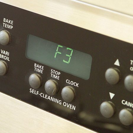 <b>Oven controls</b></br> Electric devices often flash a fault code to signal a problem.
