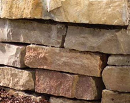 <b>Natural stone</b></br> The rough, randomly stacked stone softens with time and weathering, growing more attractive as it ages.