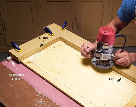 Convert Wood Cabinet Doors To Glass The Family Handyman