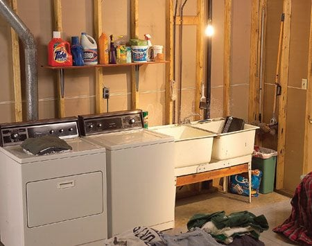 <b>Before photo</b></br> This is what the laundry room looked like before the remodel.